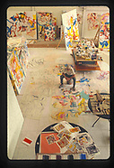 Willem de Kooning in his studio. Over 100 images available