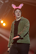 Lewis Capaldi performs in front of 10000 fans from Girl Guiding UK during the Girl Guiding Scotland Tartan Gig at SSE Hydro, Glasgow, Scotland on 31 August 2019. Picture by Colin Poultney.