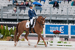 Michele George riding FBW Rainman in the Grade IV Individual Tests at the 2014 World Equestrian Games, Caen, Normandy, France