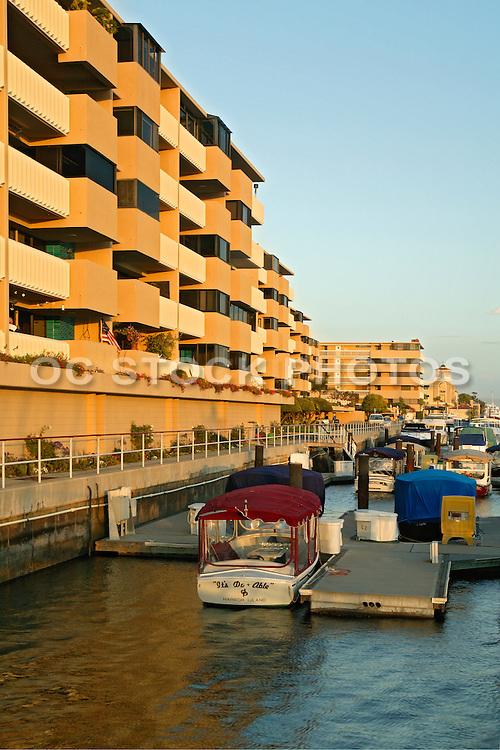Boats In Newport Harbor At The Balboa Bay Club Newport Beach, California