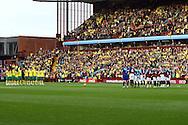 Picture by Paul Chesterton/Focus Images Ltd.  07904 640267.5/11/11.Boths sides and the fans observe a minutes silence before the Barclays Premier League match at Villa Park stadium, Birmingham.