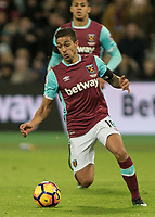 Football - 2016 / 2017 Premier League - West Ham United vs. Arsenal <br /> <br /> Manuel Lanzini of West Ham at The London Stadium.<br /> <br /> COLORSPORT/DANIEL BEARHAM