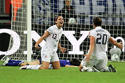 17.07.2011, Commerzbankarena, Frankfurt, GER, FIFA Women Worldcup 2011, Finale,  Japan (JPN) vs. USA (USA), im Bild:  .Torjubel Alex Morgan und Abby Wambach (beide USA) nach dem 0:1 durch Alex Morgan ..// during the FIFA Women Worldcup 2011, final, Japan vs USA on 2011/07/17, FIFA Frauen-WM-Stadion Frankfurt, Frankfurt, Germany.  EXPA Pictures © 2011, PhotoCredit: EXPA/ nph/  xxxxx       ****** out of GER / CRO  / BEL ******