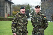 06/11/2014  Sgt Major Lambe who has heading out on his 18th tour and 20 year old Jake Stanbridge Duffy who is Lebanon Bound with the  47th Infantry Group from  in Renmore Barracks, Galway.. Photo:Andrew Downes