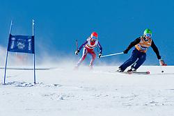ETHERINGTON Jade Guide CLARK John, GBR, Super G, 2013 IPC Alpine Skiing World Championships, La Molina, Spain