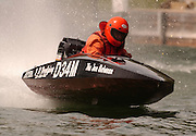 Indian River resident Jim Powell gets a chance to put his new fiberglass hull to the test in the 2007 Top O' Michigan Marathon Nationals.