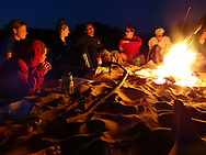 Students gather around a fire during their Wisconsin Basecamp trip in 2012.   Wisconsin Basecamp is an outdoor experience open to incoming University of Wisconsin-Madison freshman students.