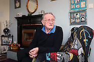 Bernard Dye in his prefab in Killarmarsh, January 2013