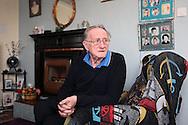 Bernard Dye in his prefab in Killarmarsh, January 2013