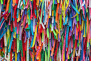 Salvador_BA, Brasil.<br /> <br /> Fitinhas do Senhor do Bonfim na Igreja de Bonfim em Salvador.<br /> <br /> Senhor do Bonfim ribbons in the Church of Bonfim in Salvador.<br /> <br /> Foto: RODRIGO LIMA / NITRO