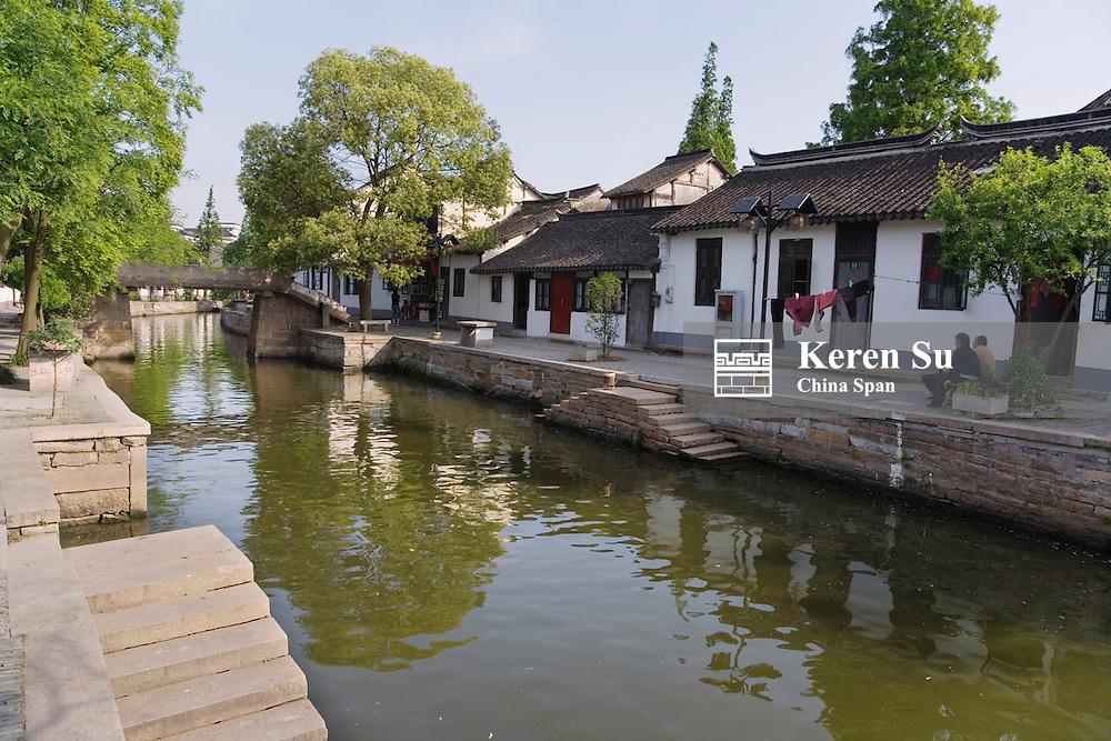 Grand Canal through the water town, Zhujiajiao, near Shanghai, China