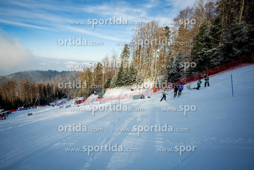 "Course during FIS Alpine Ski World Cup 2016/17 Ladies Slalom race named ""Snow Queen Trophy 2017"", on January 3, 2017 in Course Crveni Spust at Sljeme hill, Zagreb, Croatia. Photo by Žiga Zupan / Sportida"