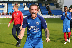 Jack Marriott of Peterborough United celebrates the victory at full-time - Mandatory by-line: Joe Dent/JMP - 23/09/2017 - FOOTBALL - ABAX Stadium - Peterborough, England - Peterborough United v Wigan Athletic - Sky Bet League One