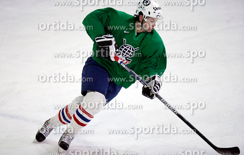 Andrej Hebar at  hockey training of Slovenian national team, on December 12, 2007 in Bled - Ice Arena, Slovenia. (Photo by Vid Ponikvar / Sportal Images)