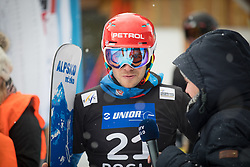 Košir Žan during the men's Snowboard giant slalom of the FIS Snowboard World Cup 2017/18 in Rogla, Slovenia, on January 21, 2018. Photo by Urban Meglic / Sportida