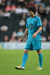 Tottenham's Cristian Ceballos .Photo mandatory by-line: Nigel Pitts-Drake/JMP  - Tel: Mobile:07966 386802 31/07/2013 - MK Dons v  Tottenham XI  - SPORT - FOOTBALL - pre-season - Milton Keynes - Stadium MK