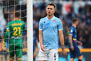 Lucas Leiva of Lazio reacts during the Italian championship Serie A football match between SS Lazio and US Lecce Sunday, Nov. 10, 2019 at the Stadio Olimpico in Rome. SS Lazio defeated US Lecce 4-2. (Federico Proietti/Image of Sport)