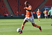 Blackpool Forward, Kyle Vassell (7) and goal scorer during the EFL Sky Bet League 1 match between Blackpool and Oldham Athletic at Bloomfield Road, Blackpool, England on 26 August 2017. Photo by Mark Pollitt.