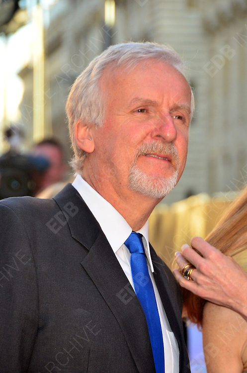27.MARCH.2012. LONDON<br /> <br /> JAMES CAMERON AT THE TITANIC 3D PREMIERE HELD AT THE ROYAL ALBERT HALL IN KENSINGTON, LONDON<br /> <br /> BYLINE: EDBIMAGEARCHIVE.COM/JOE ALVAREZ<br /> <br /> *THIS IMAGE IS STRICTLY FOR UK NEWSPAPERS AND MAGAZINES ONLY*<br /> *FOR WORLD WIDE SALES AND WEB USE PLEASE CONTACT EDBIMAGEARCHIVE - 0208 954 5968*