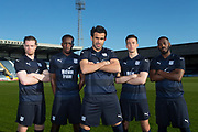 Craig Wighton, Glen Kamara, Sofien Moussa, Cammy Kerr and Roarie Deacon of Dundee - Dundee FC kit launch at Dundee, Dens Park,<br /> <br />  - &copy; David Young - www.davidyoungphoto.co.uk - email: davidyoungphoto@gmail.com