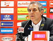 Marcel Koller, head coach of Austria announces his 23 man squad prior to the International Friendly match at Worthersee Stadion, Klagenfurt, Austria.<br /> Picture by EXPA Pictures/Focus Images Ltd 07814482222<br /> 31/05/2016<br /> ***UK &amp; IRELAND ONLY***<br /> EXPA-JAN-160531-5383.jpg