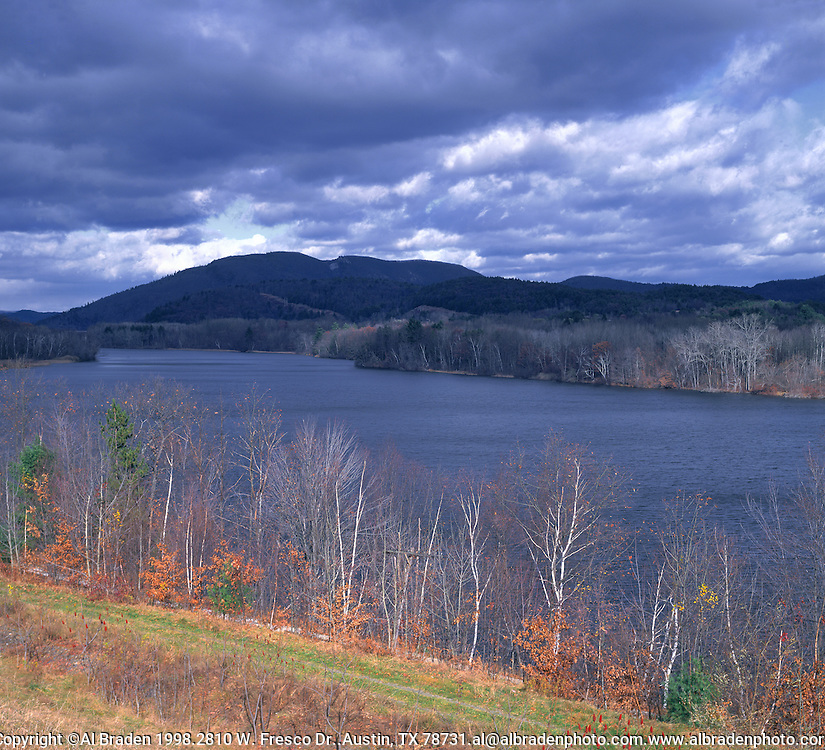 Connecticut River, looking north in fall from Rt. 142, Vernon, VT