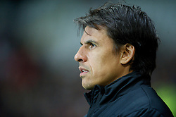 SWANSEA, WALES - Tuesday, March 26, 2013: Wales' manager Chris Coleman before the 2014 FIFA World Cup Brazil Qualifying Group A match against Croatia at the Liberty Stadium. (Pic by David Rawcliffe/Propaganda)