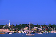 USA, Newport, RI - Evening view of Newport's waterfront taken from Goat Island.