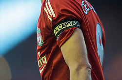 LIVERPOOL, ENGLAND - Saturday, January 30, 2010: Liverpool's captain Steven Gerrard MBE wearing the captain's armband during the Premiership match against Bolton Wanderers at Anfield. (Photo by: David Rawcliffe/Propaganda)