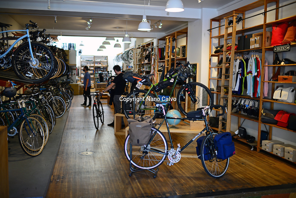Huckleberry bicycles store in San Francisco, California.