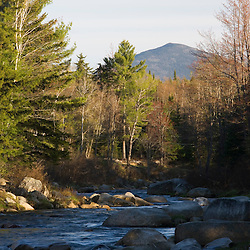 The Ammonoosuc River in New Hampshire's White Mountains.  Bethlehem, New Hampshire.