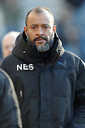 Wolverhampton Wanderers Manager Nuno during the EFL Sky Bet Championship match between Preston North End and Wolverhampton Wanderers at Deepdale, Preston, England on 17 February 2018. Picture by Craig Galloway.