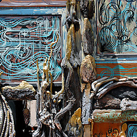 painted driftwood hut