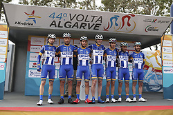 February 14, 2018 - Lagos, Portugal - W52/FC Porto before the 1st stage of the cycling Tour of Algarve between Albufeira and Lagos, on February 14, 2018. (Credit Image: © Str/NurPhoto via ZUMA Press)