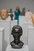 Busts of people close to him in Room 1 - the UK's first major retrospective of Alberto Giacometti (1901-1966) for 20 years.<br /> Celebrated as a sculptor, painter and draughtsman, he is famous for his distinctive elongated figures. With the help of Fondation Alberto et Annette Giacometti, Paris, Tate Modern's exhibition brings together over 250 works. Alberto Giacometti is at Tate Modern from 10 May to 10 September 2017