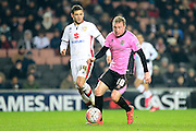 Northampton Town Midfielder Nicky Adams during the The FA Cup Third Round Replay match between Milton Keynes Dons and Northampton Town at stadium:mk, Milton Keynes, England on 19 January 2016. Photo by Dennis Goodwin.