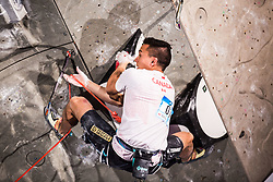 MCCOLL Sean of Canada during Finals IFSC World Cup Competition in sport climbing Kranj 2019, on September 29, 2019 in Arena Zlato polje, Kranj, Slovenia. Photo by Peter Podobnik / Sportida