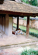 University students studying at the Temple of Literature