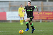 Forest Green Rovers Carl Winchester(7) runs forward during the EFL Sky Bet League 2 match between Stevenage and Forest Green Rovers at the Lamex Stadium, Stevenage, England on 26 January 2019.