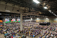 Participants gather at the 36th Biennial Convention of the Lutheran Women's Missionary League on Friday, June 26, 2015, at the Iowa Events Center in Des Moines, Iowa. LCMS Communications/Erik M. Lunsford