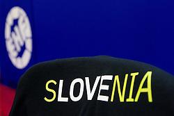 Slovenia's T-shirt during practice session of Slovenia National Handball team during Main Round of 10th EHF European Handball Championship Serbia 2012, on January 21, 2012 in Spens Sports Center, Novi Sad, Serbia. (Photo By Vid Ponikvar / Sportida.com)
