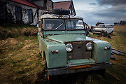 The remains of an old Land Rover defender
