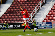 Swindon Town forward Eoin Doyle shoots at goal during the EFL Sky Bet League 2 match between Swindon Town and Macclesfield Town at the County Ground, Swindon, England on 14 September 2019.
