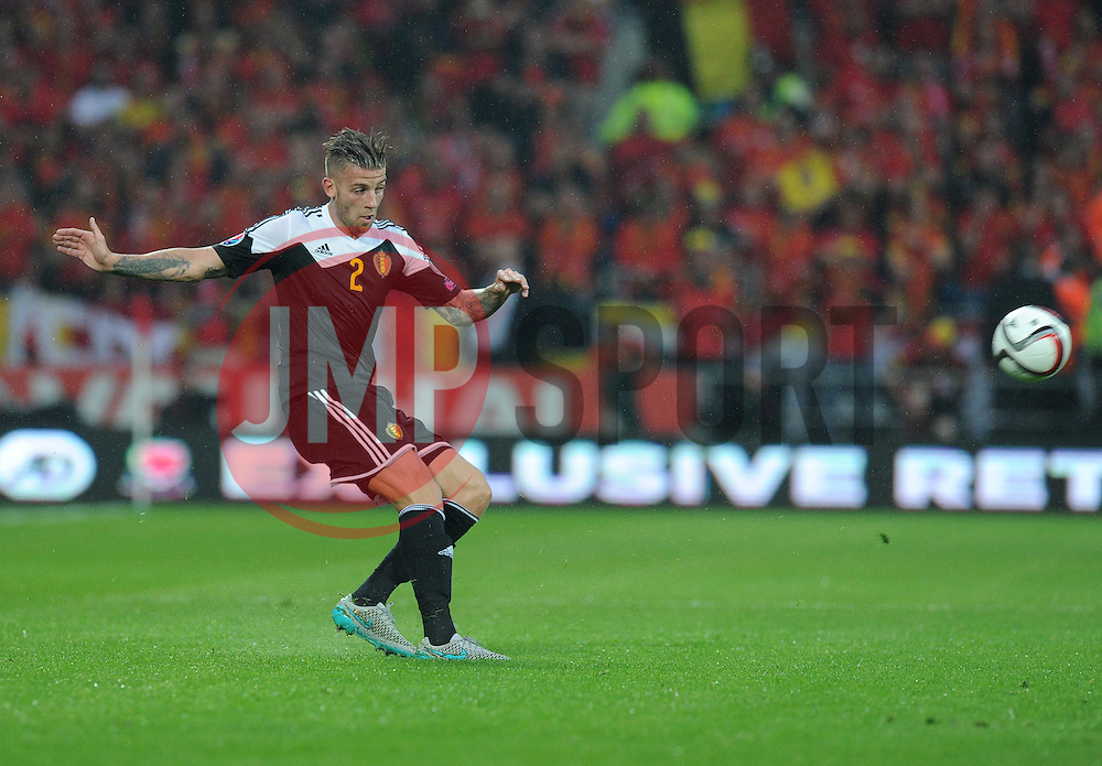 Toby Alderweireld of Belgium (Southampton) - Photo mandatory by-line: Alex James/JMP - Mobile: 07966 386802 - 12/06/2015 - SPORT - Football - Cardiff - Cardiff City Stadium - Wales v Belgium - Euro 2016 qualifier