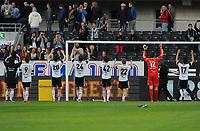 Fotball Tippeligaen Rosenborg - Tromsø<br /> 8 mai 2013<br /> Lerkendal Stadion, Trondheim<br /> <br /> Rosenborg-gutta takker publikum etter kampen<br /> <br /> <br /> Foto : Arve Johnsen, Digitalsport