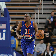 Westchester Knicks Guard Langston Galloway (11) dribbles the ball up court in the first half of a NBA D-league regular season basketball game between the Delaware 87ers and the Westchester Knicks (New York Knicks) Sunday, Dec. 28, 2014 at The Bob Carpenter Sports Convocation Center in Newark, DEL