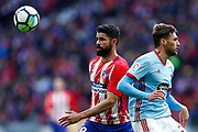 Atletico Madrid's Spanish forward Diego Costa controls the ball during the Spanish championship Liga football match between Atletico de Madrid and RC Celta on March 11, 2018 at the Wanda Metropolitano stadium in Madrid, Spain - Photo Benjamin Cremel / ProSportsImages / DPPI