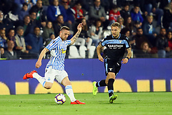 "Foto LaPresse/Filippo Rubin<br /> 03/04/2019 Ferrara (Italia)<br /> Sport Calcio<br /> Spal - Lazio - Campionato di calcio Serie A 2018/2019 - Stadio ""Paolo Mazza""<br /> Nella foto: JASMIN KURTIC (SPAL) VS CIRO IMMOBILE (LAZIO)<br /> <br /> Photo LaPresse/Filippo Rubin<br /> April 03, 2019 Ferrara (Italy)<br /> Sport Soccer<br /> Spal vs Lazio - Italian Football Championship League A 2018/2019 - ""Paolo Mazza"" Stadium <br /> In the pic: JASMIN KURTIC (SPAL) VS CIRO IMMOBILE (LAZIO)"