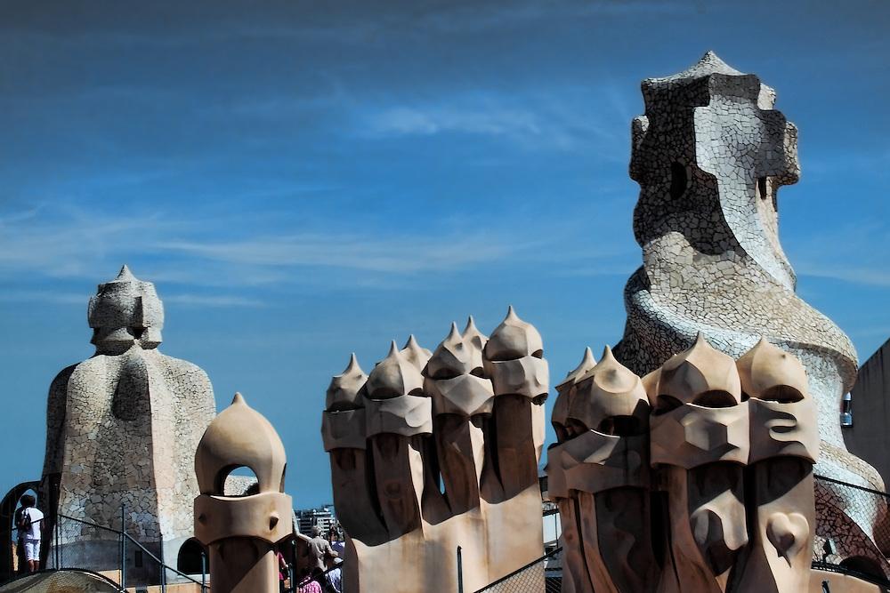 Roof of La Pedrera, by Antoni Gaudi.