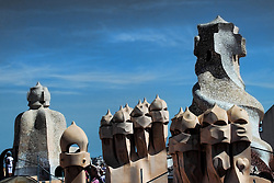 Roof of La Pedrera, by Antoni Gaudi.